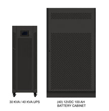 Load image into Gallery viewer, 40 kVA / 40 kW Advanced Digital 3 Phase Battery Backup Uninterruptible Power Supply (UPS) And Power Conditioner With 1 External Battery Cabinet