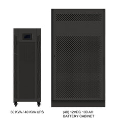 30 kVA / 30 kW Advanced Digital 3 Phase Battery Backup Uninterruptible Power Supply (UPS) And Power Conditioner With 1 External Battery Cabinet