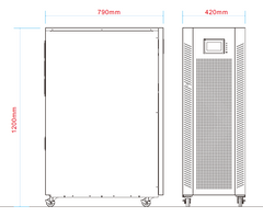 30 kVA / 30 kW Advanced Digital 3 Phase Battery Backup Uninterruptible Power Supply (UPS) And Power Conditioner Dimensions