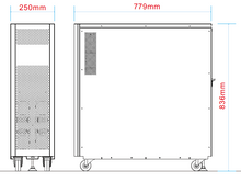 Load image into Gallery viewer, External Battery Cabinet For Advanced Digital 10 KVA To 20 KVA 3 Phase Systems Dimensions