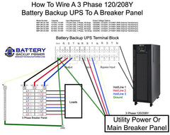 BBP-AR-33 Wiring Diagram To 3 Phase Distribution Panel