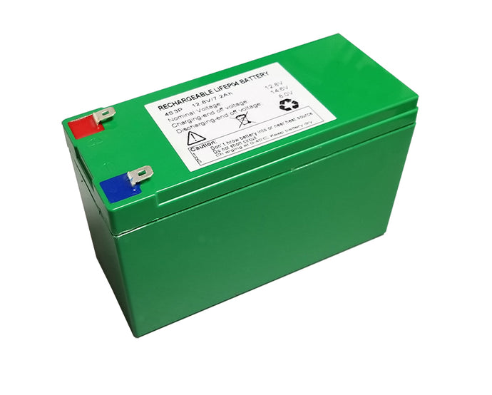 High Discharge Rate Lithium (LiFePO4) Battery (Generation 3) - 12 Volts 7.2 Amp Hours