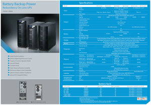 Battery Backup Power 10KVA And 6KVA UPS Specification Sheet