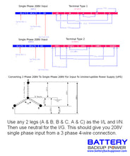 Load image into Gallery viewer, Battery Backup Power, Inc. Wiring Diagram