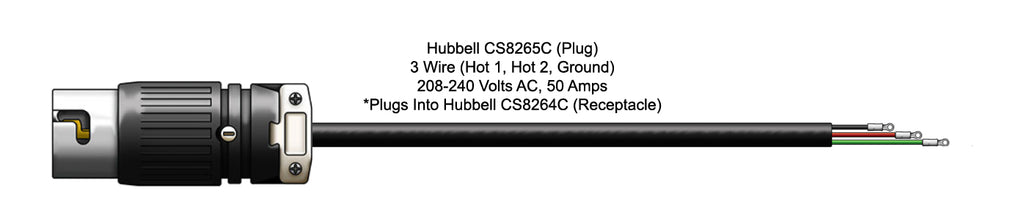 Hubbell CS8265C (Plug) Power Cord