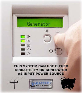 Battery Backup Power Uninterruptible Power Supply (UPS) Works With Generator
