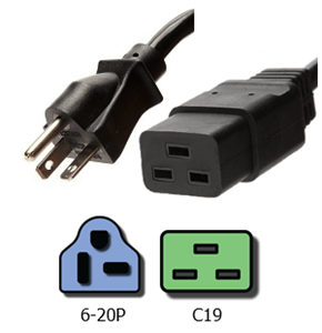 NEMA 6-20P To IEC C19 Plug Adapter