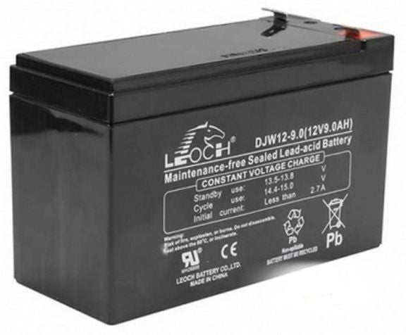 Leoch DJW12-9.0 Battery - 12 Volts 9 Amp Hours
