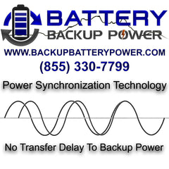 Power Synchronization Technology Double Conversion Battery Backup UPS No Transfer Delay To Backup Power