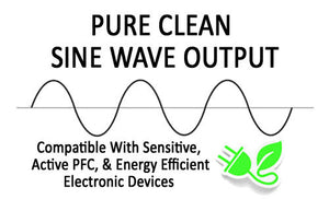 Pure Clean Sine Wave Output By Battery Backup Power UPS