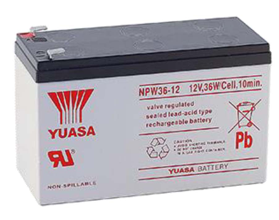 yuasa npw36 12 battery 12 volts 7 amp hours battery. Black Bedroom Furniture Sets. Home Design Ideas