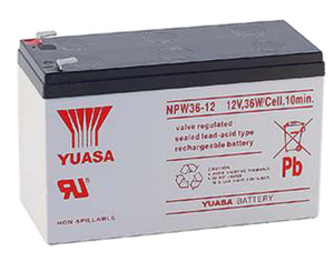Yuasa NPW36-12 Battery - 12 Volts 7 Amp Hours