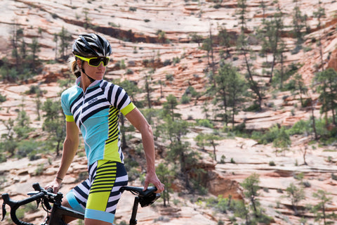Female Cycling Mountains
