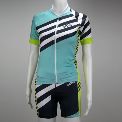 Female Cycling Jersey Short Sleeve Front Mannequin Coronado