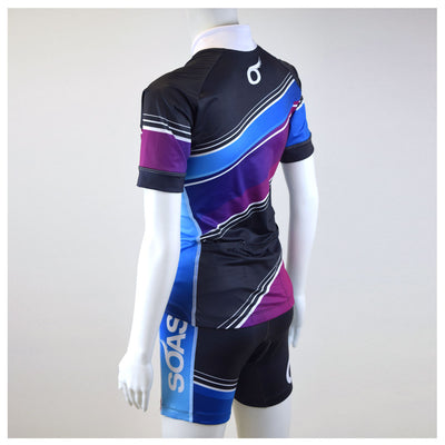 Female Cycling Jersey Full Back Aquarius