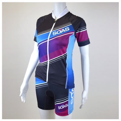 Female Cycling Jersey Full Body Aquarius