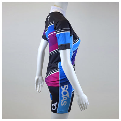Female Cycling Jersey Full Side Aquarius