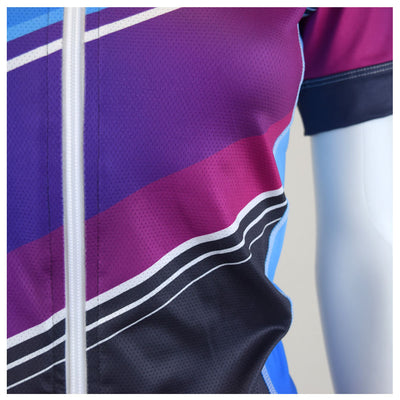 Female Cycling Jersey Zipper Aquarius