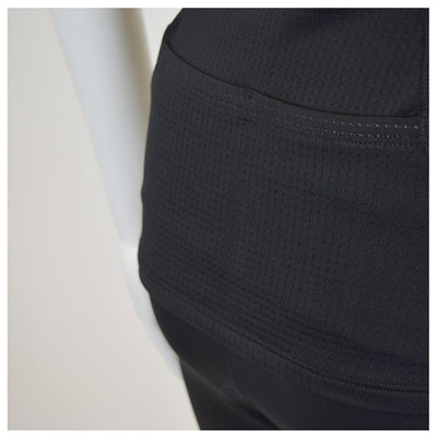 Female Tri Short Black Basic Fabric Close Up
