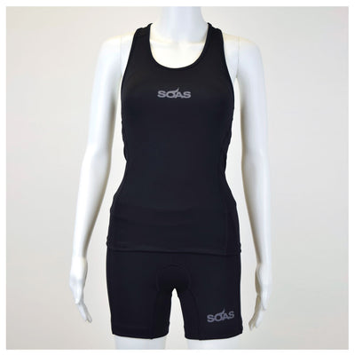 Female Tri Short Black Basic Front Mannequin