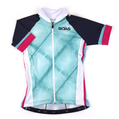 Female Cycling Jersey Front Byron Bay Blue
