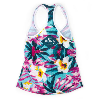 Floral Kona Razor Tank Run Top SOLD OUT ***Ships 10/11/19***