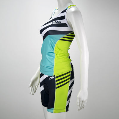 Female Triathlon Short Coronado Side Mannequin