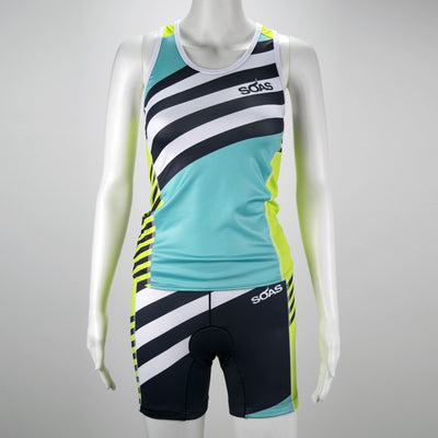 Female Triathlon Tank Bra Support Coronado Front Mannequin