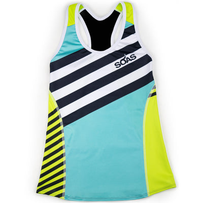 Female Triathlon Tank Bra Support Coronado Front
