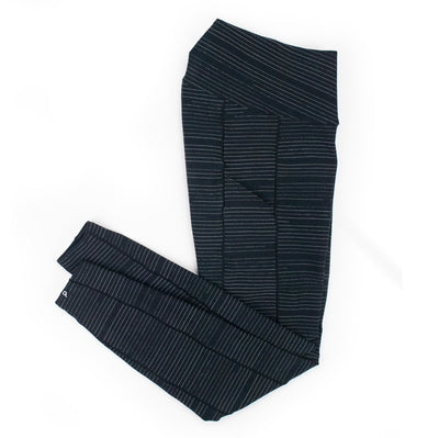 Pinstripe Full Length Run Tights