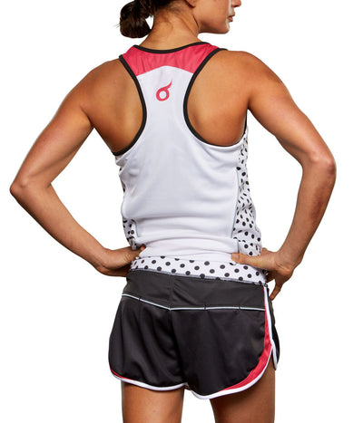 Pink Polka Dot Run Short SHELL JFU