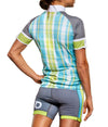 Teal Plaid Cycle Jersey JFU