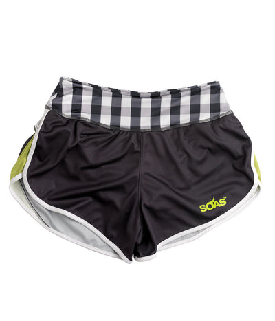Green Gingham Run Short JFU
