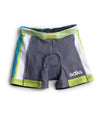 "Teal Plaid Tri Short 5"" JFU"