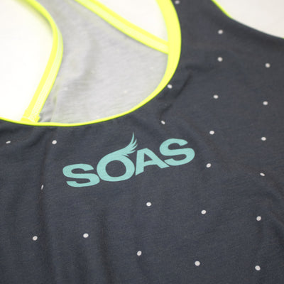 Neon Seeing Spots Razor Tank Run Top