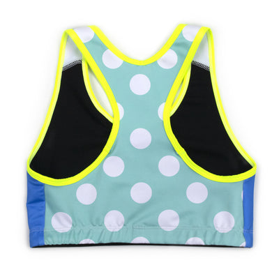 Neon Seeing Spots Sports Bra