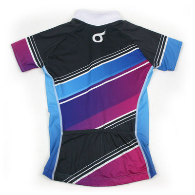 Female Cycling Jersey Back Aquarius