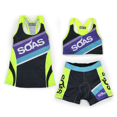 Female Cycling Tri Short Speed Series Set Front