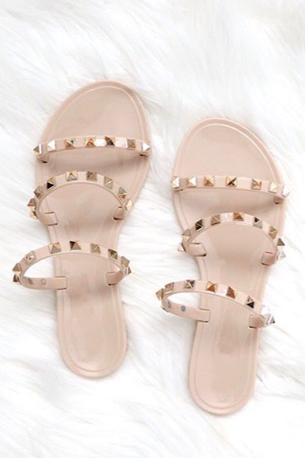 Such A Stud Sandals in Nude - RTS 3/9