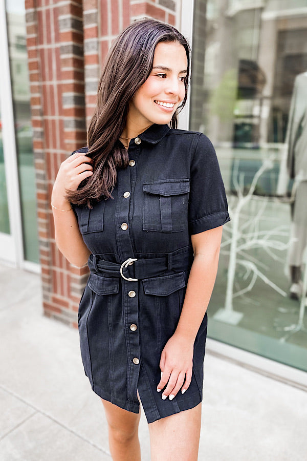 Go Getter Dress in Black