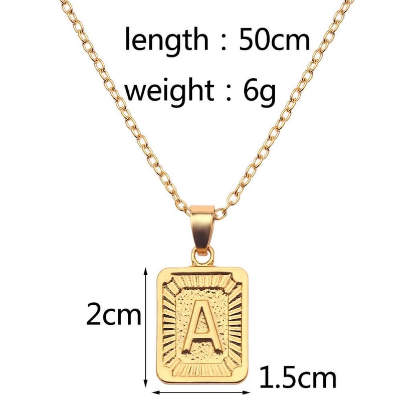 Initial Necklace D