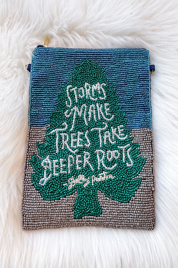 Tree Roots Beaded Bag
