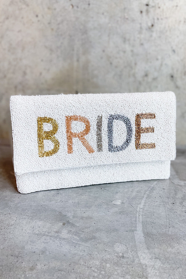 Blushing Bride Beaded Crossbody