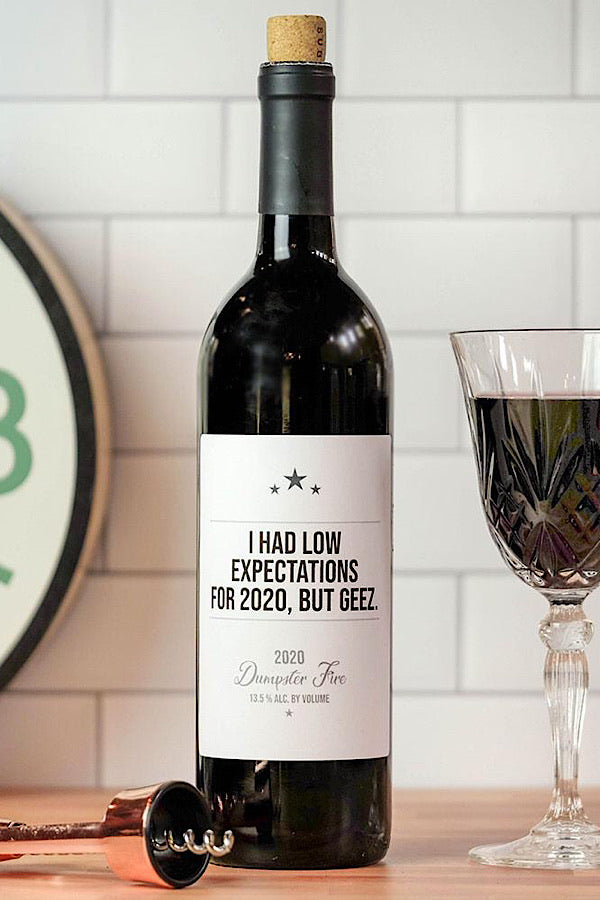 Low Expectations Wine Labels - Pack of 6