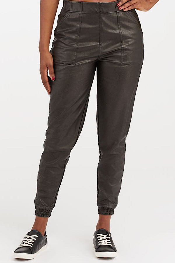 Spanx Leather-Like Joggers