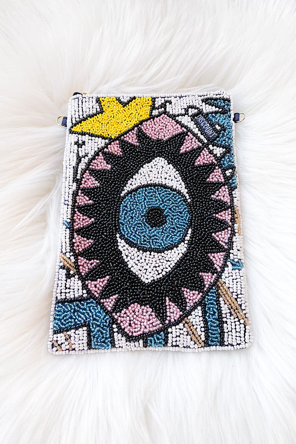 Evil Eye Beaded Bag