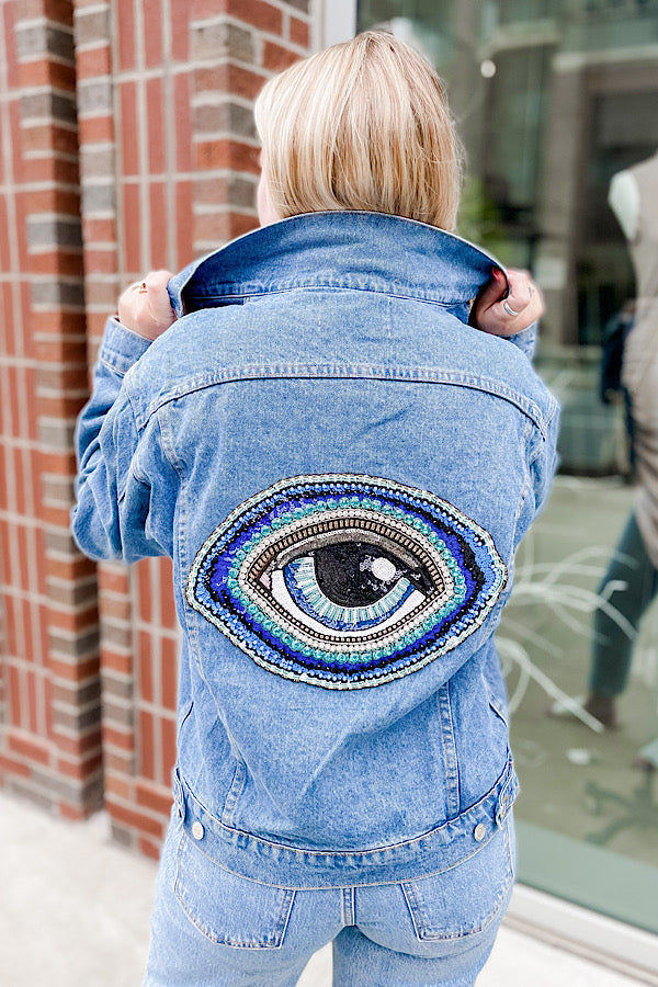 To Nash With Love Jacket with Blue Eye - Size S