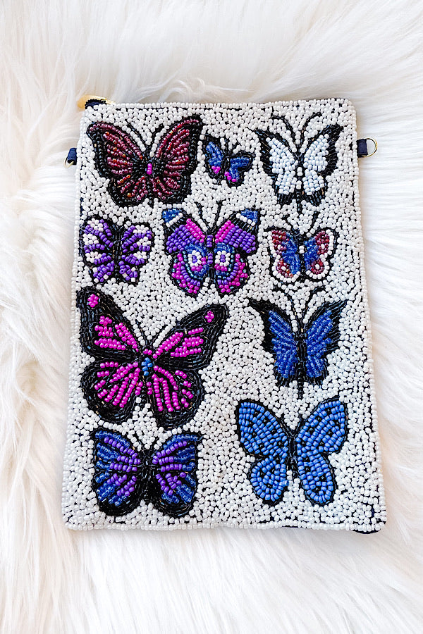 Butterfly Beaded Bag