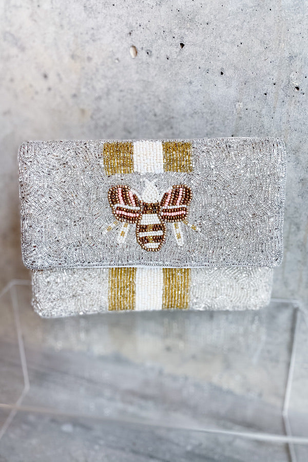 Queen Bee Beaded Crossbody