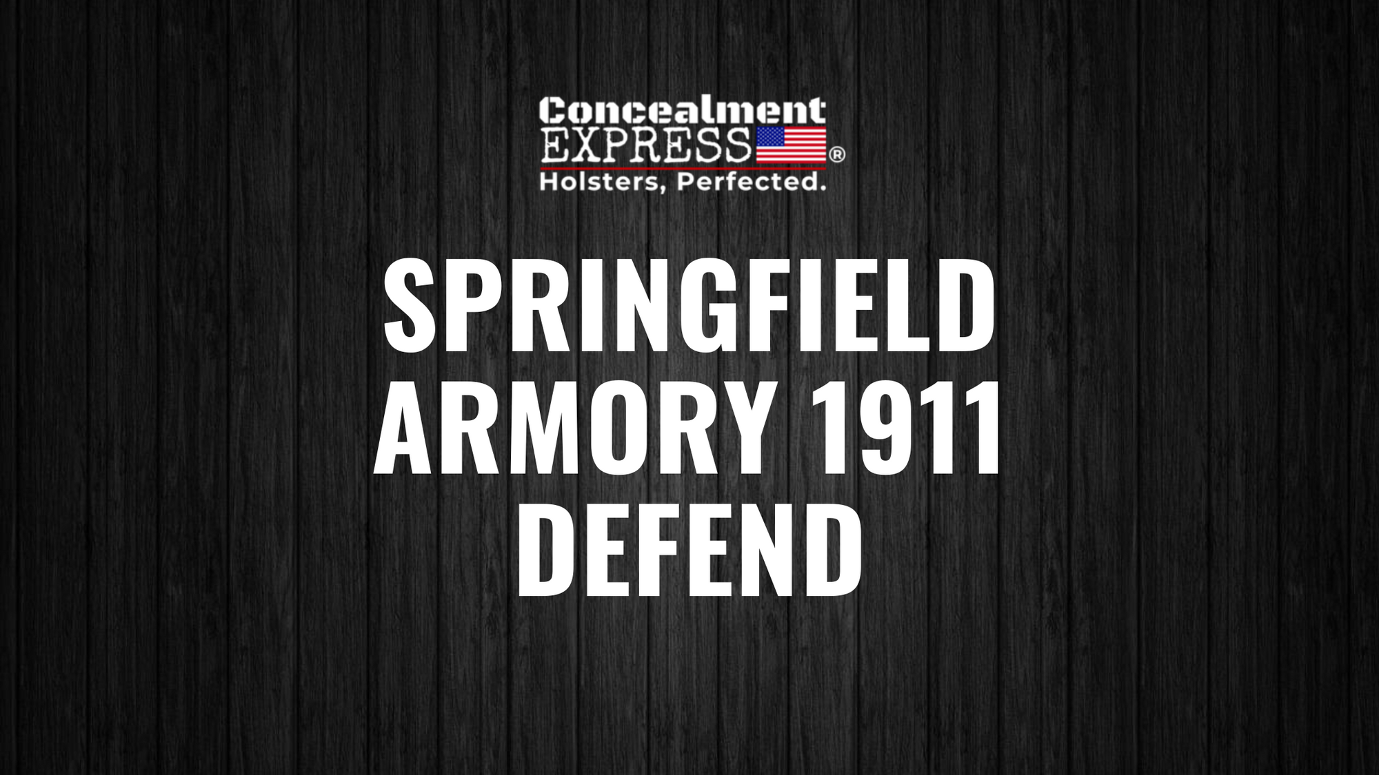 Springfield Armory 1911 Defend